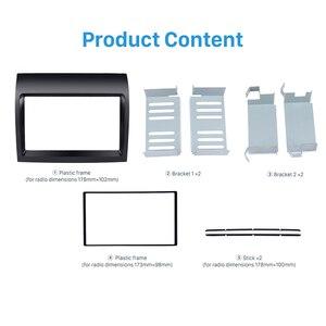 Seicane черный 2 Din автомобильное радио фасция двойной Din индаш монтажный комплект адаптер DVD плеер рамка панель для 2011 FIAT DUCATO
