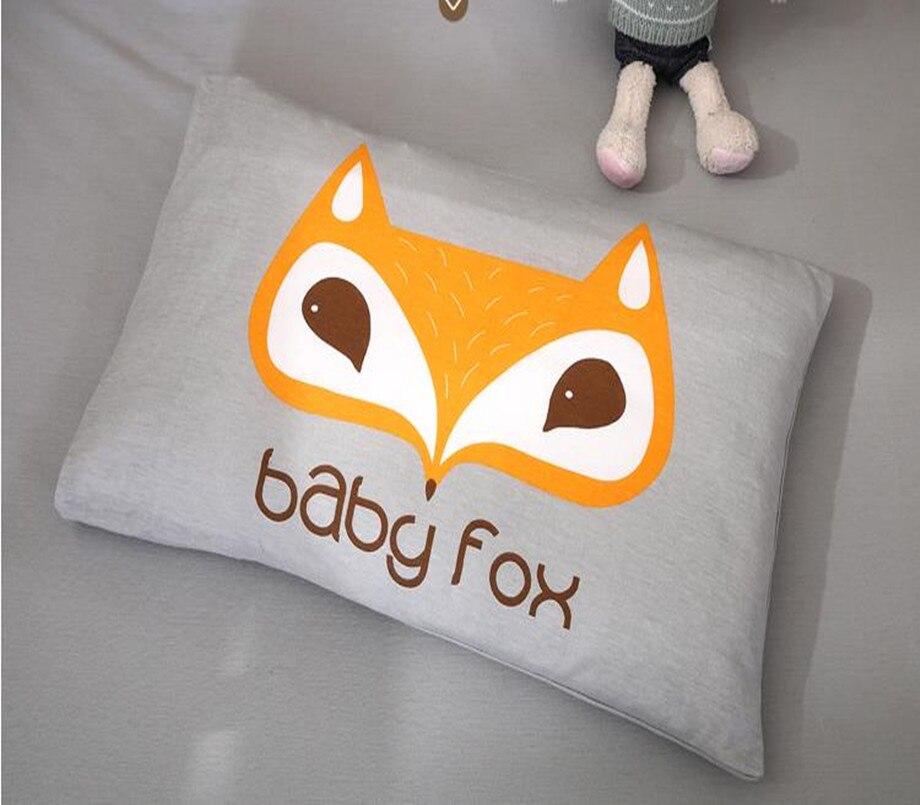 Baby Bedding Set Bumper Cotton Soft Detachable Bed Sets Qulit Cover Cot Sheet Pillow Case Cartoon Fox Pattern Knit Baby Bedding