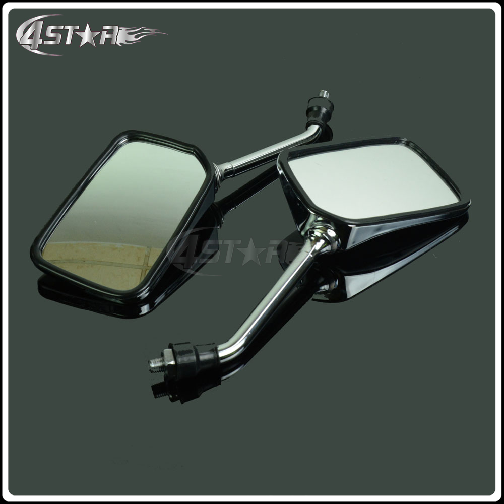 цена на Universal 1 Pair Motorcycle Parts Rearview Side Mirrors For HONDA CB400 CB750 CB1000 CB1300 CB-1 VTEC VT250 ZRX400 Street Bikes