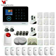 YoBang Security 3G WIFI Alarm System 2.4 Inch TFT Dispay Android IOS APP Controlled Home Alarm WCDMA/CDMA Home Alarm System.