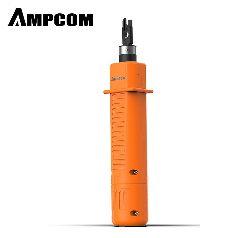 Инструмент для перфорации, сетевой кабель AMPCOM 110 типа с двумя лезвиями, инструменты для вставки телефонного терминала