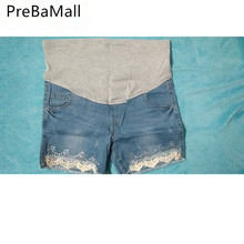 Buy Maternity Shorts Jeans for Pregnant Women Denim Pants Summer Elastic Waist Adjustsable Jeans Short For Pregnancy Belly B0140 directly from merchant!