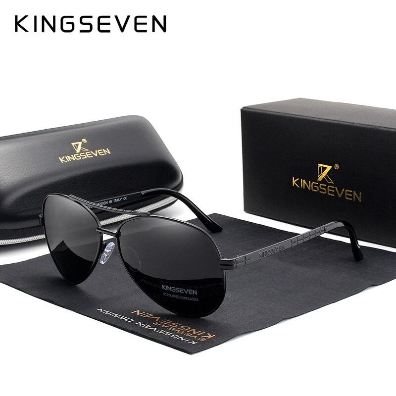 KINGSEVEN 2019 Nuovo Disegno di Protezione Telaio In Lega Aeronautica HD Occhiali Da Sole Polarizzati Per Gli Uomini UV400