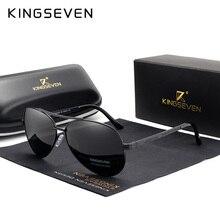 KINGSEVEN 2019 New Design Aviation Alloy Frame HD Polarized Sunglasses For Men UV400 Protection f225 fashionable zinc alloy frame resin lens uv400 protection sunglasses silver