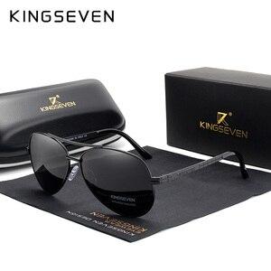 Image 1 - نظارات شمسية KINGSEVEN طراز 2019 مستقطبة بإطار من سبيكة الطيران بتصميم جديد للرجال طراز UV400
