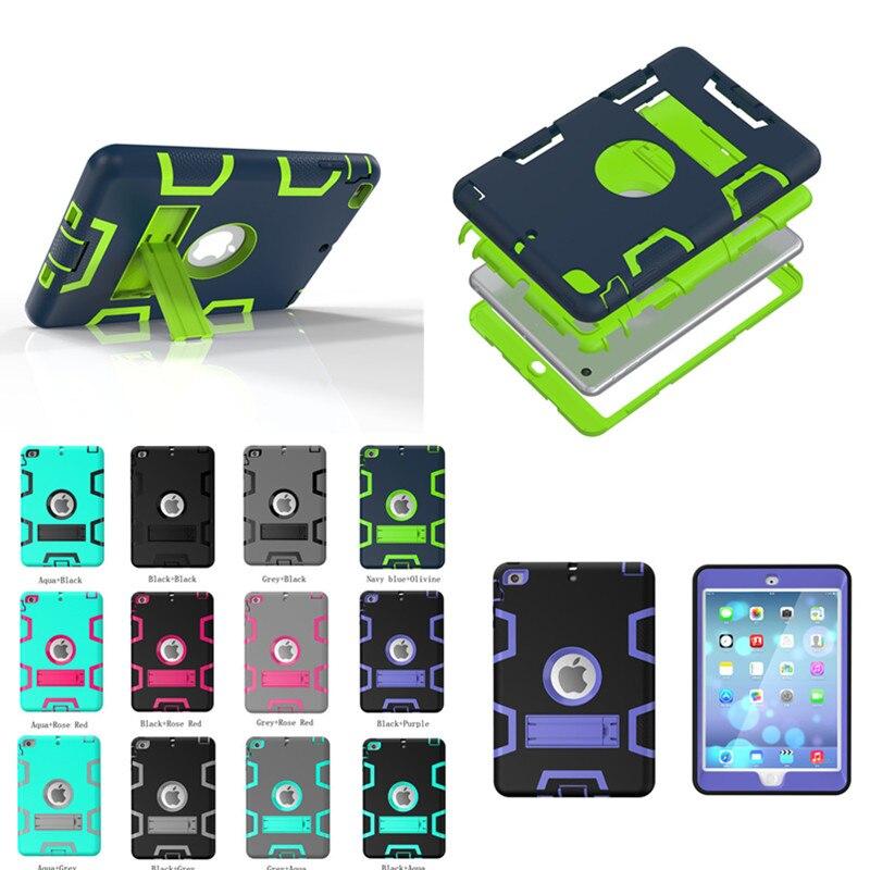 Wholesale WES Stand Case for Apple ipad mini 1 / 2 / 3 full protective colorful back case silicon plastic shell For mini2 mini3