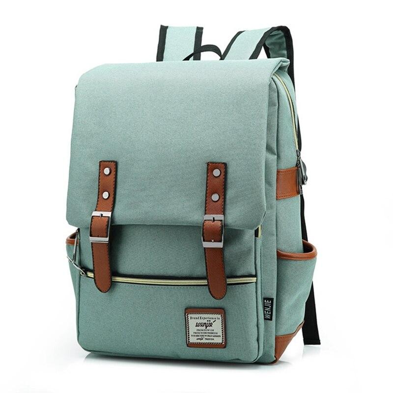 Vintage Solid Women Backpack Large Men Canvas Backpacks Preppy Style Rucksacks Female Satchel Laptop Bag for Teenage Girls L162 casual canvas satchel men sling bag