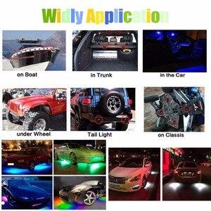 Image 5 - 2 pz 9 w Nave A Vapore Le Luci della Piattaforma Decorazione Barca Lampada Variopinta per Lautomobile Barca Jeep Off Road Moto