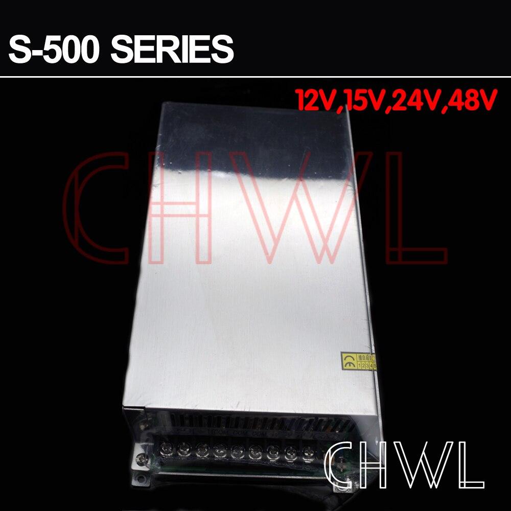 Livraison gratuite haute qualité 24 V 20A 500 W alimentation à découpage pour bande de LED AC 100-240 V entrée - 3