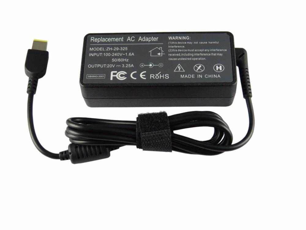 20 v 3.25a 65 w ac adaptateur d'alimentation pour ordinateur portable chargeur pour lenovo thinkpad x1 carbon lenovo g400 g500 g505 g405 yoga 13