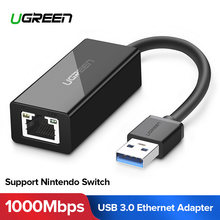 Ugreen USB Ethernet Adapter USB 3.0 2.0 Network Card to RJ45 Lan for Windows 10 Xiaomi Mi Box 3 Nintend Switch Ethernet USB(China)