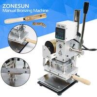 ZONESUN ZS 100 Dual Purpose Hot Foil Stamping Machine Manual Bronzing Machine For PVC Card Leather