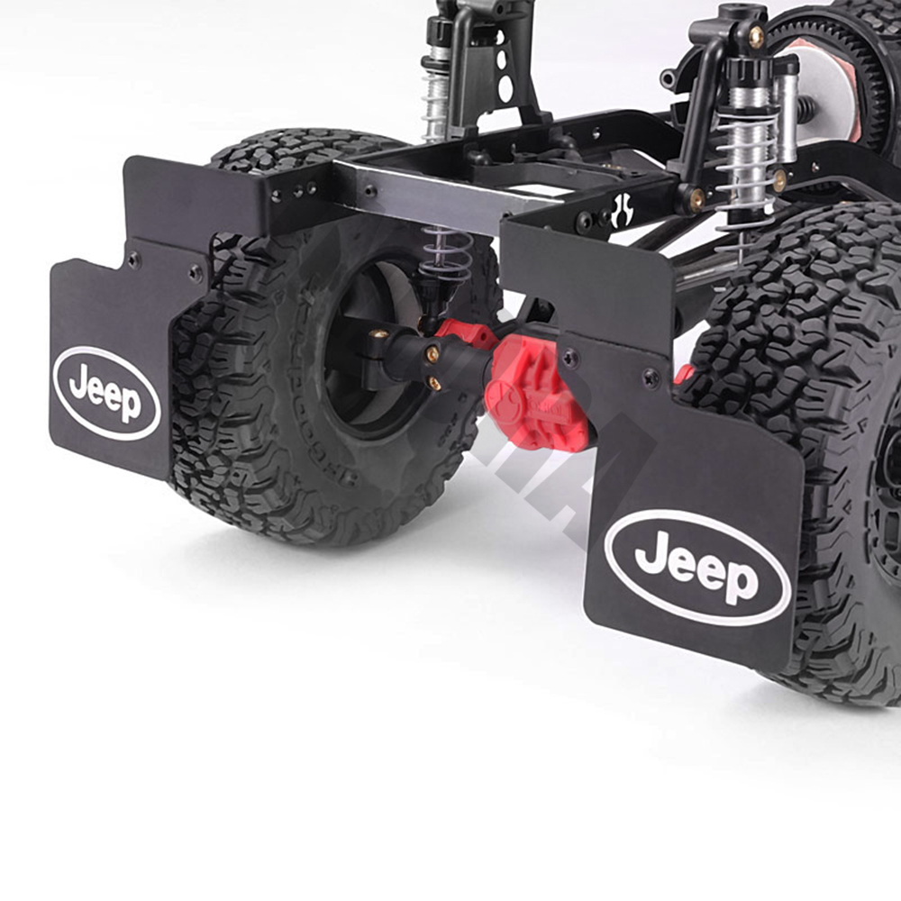 INJORA 2Pcs Rear Mud Flaps Rubber Fender with JEEP Logo for 1/10 RC Crawler Axial SCX10 & SCX10 II 90046 KM2