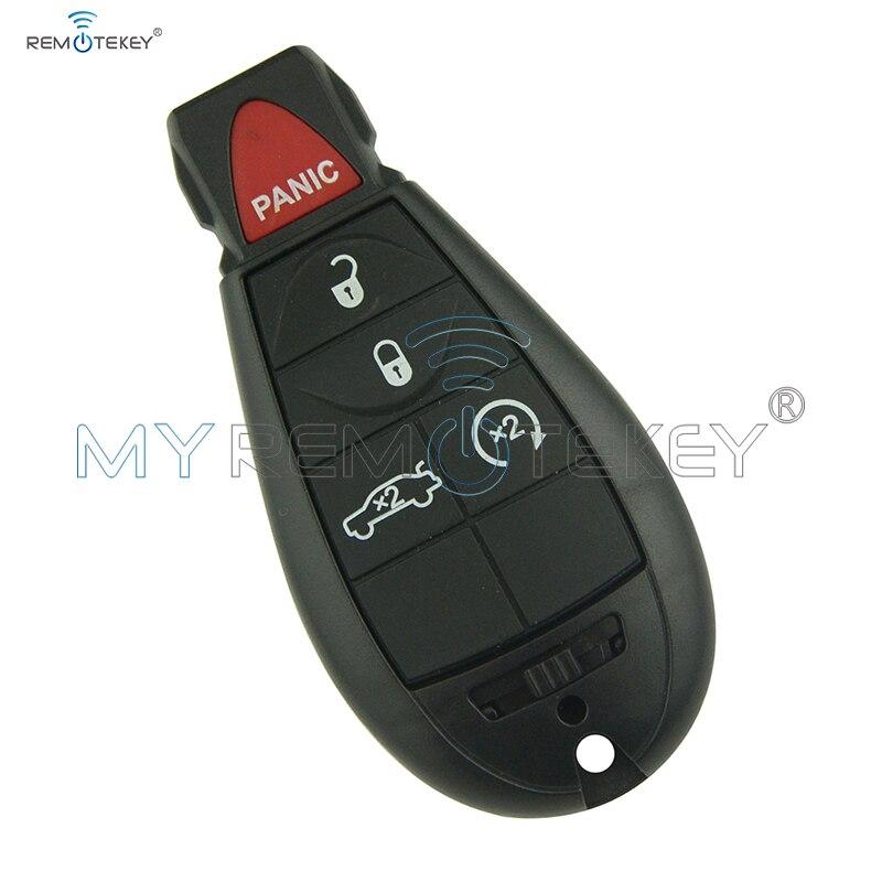Remtekey remote fobik key 4 button with panic for Chrysler key #3 Fobik key -2011 M3N5WY783X 434 mhz fobik car key