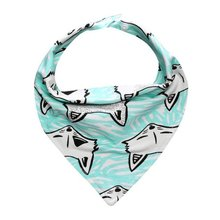 Fashion Waterproof Bibs Baby Triangle Cotton Baberos Double Layers Cartoon Animal Print Baby Kids Bandana Bibs Dribble Dibsnz17