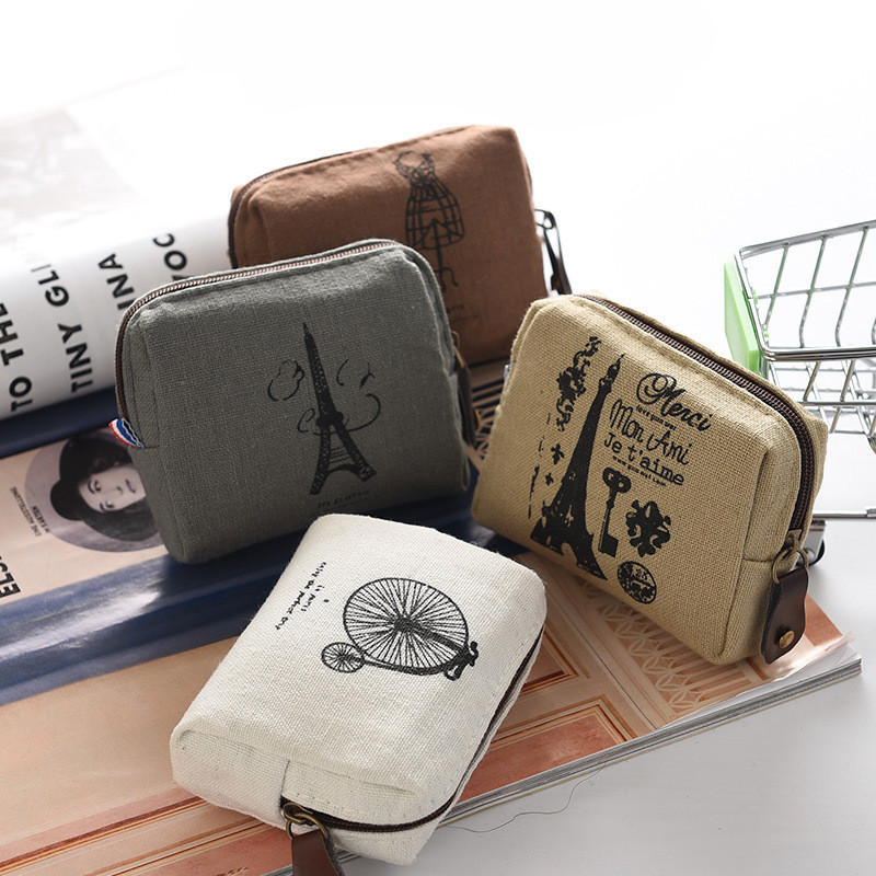 Cellphone Clutch Purse With Wrist Strap Abstract Mathematical Pattern Girls Canvas Coin Purse Zipper Small Purse Wallets
