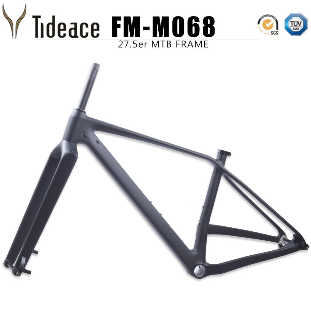 Toray T800 27.5er Plus Bike Frame And Fork 650b Mountain Bike 27.5 Full Carbon Fiber Mtb Boost Frame And Fork