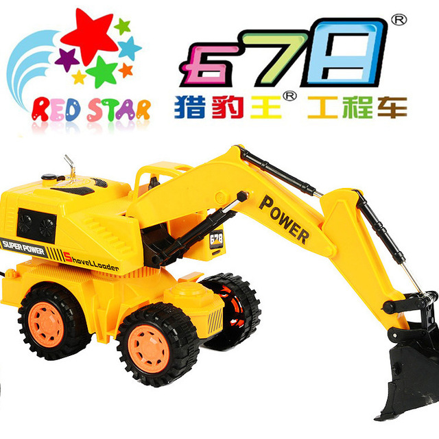 Remote Control Truck Toy Car Excavators Full Function Navvy Engineering Truck Collection Toys Excavator Truck Model Y005