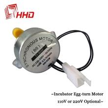 Hecho en China HHD Mini Incubar Incubadora Motor 110 V 220 V Accesorios de los Recambios para YZ8-48 YZ-56 YZ-96A con Engranaje amarillo