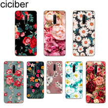 ciciber Rose Floral Phone Case For Oneplus 7 Pro 1+7 Pro Soft TPU Cover for Xiaomi 9 Coque For Redmi Note 7 6 Pro Fundas Shell