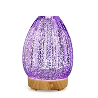 3D Led Night Light Air Humidifier Glass Vase Shape Aroma Essential Oil Diffuser Mist Maker Ultrasonic Humidifier Gift Eu Plug
