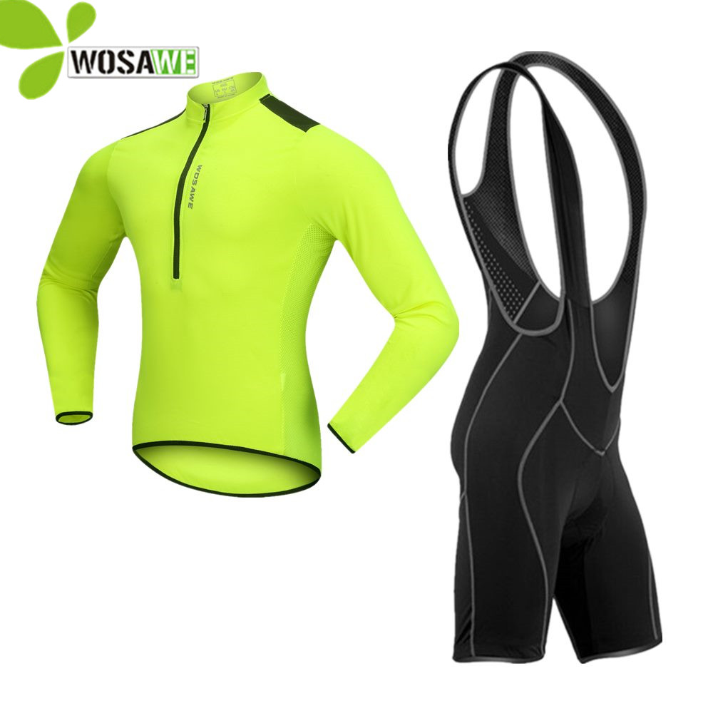 WOSAWE serré vêtements de cyclisme chemise cuissard à bretelles uniforme séchage rapide vêtements de vélo maillots de vélo Kits de Cycle descente vtt Jersey ensembles