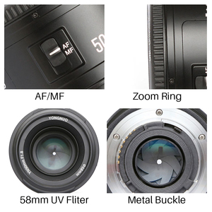 Image 5 - YONGNUO YN50MM F1.8 Camera Lens for Nikon D800 D5100 D5200 D5300 Large Aperture AF MF DSLR Camera Lens For Sony ZV 1 RX100 VII