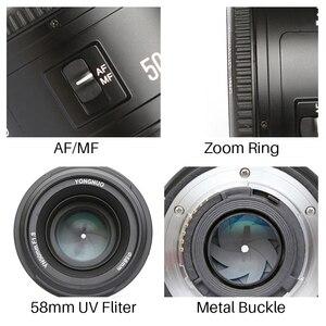 Image 5 - YONGNUO YN50MM F1.8 kamera Nikon için Lens D800 D5100 D5200 D5300 büyük diyafram AF MF DSLR kamera Lens için Sony ZV 1 RX100 VII
