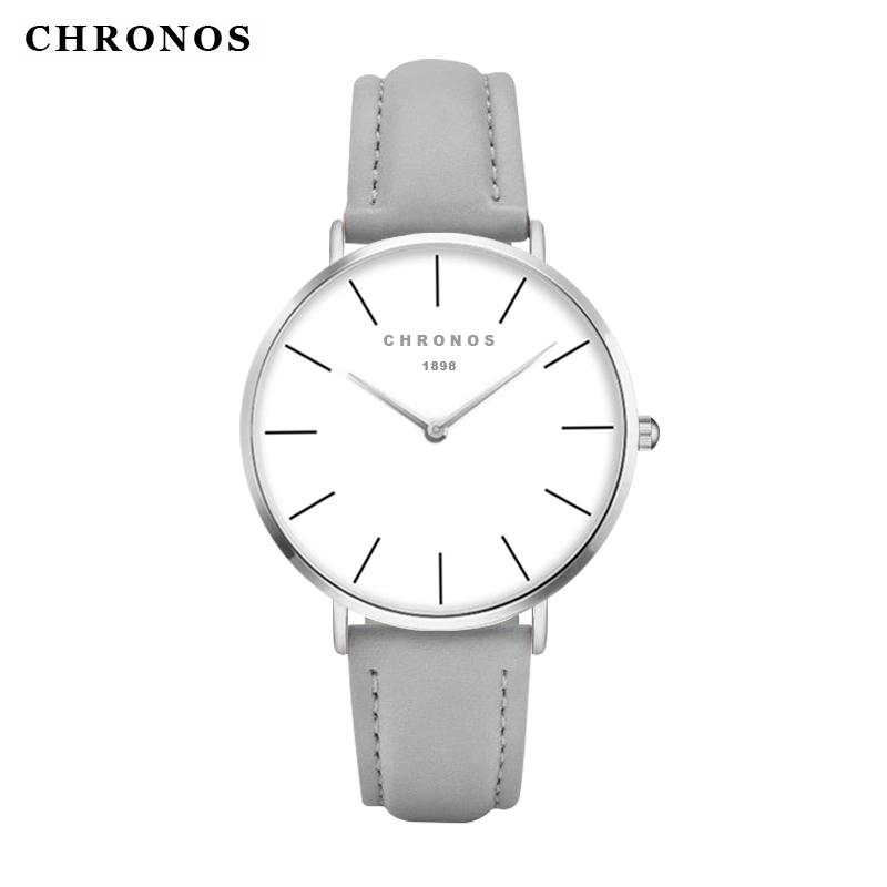 Prix pour Mode casual montres à quartz chronos 1898 de luxe top marque rose or argent hommes femmes montres relogio feminino masculino