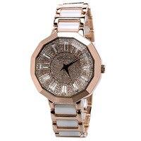 Extravagant Crystals Women Dress Watches Ceramic Bracelet Wrist watch Japan Quartz Analog Clock MELISSA Relogio Montre Femme