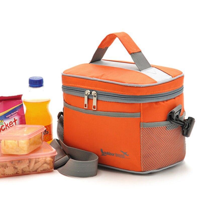 buy square thermal lancheira lunch bag cooler beam port lunch box work school. Black Bedroom Furniture Sets. Home Design Ideas