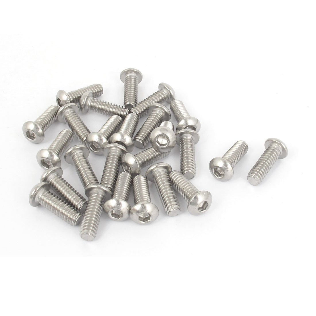 LIXF HOT 1/4 Inch-20x3/4 Inch Hex Socket Button Head Bolts Screws 25pcs 20pcs m3 6 m3 x 6mm aluminum anodized hex socket button head screw