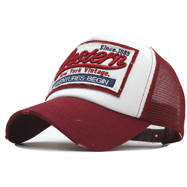 Hot Retro   Baseball     Caps   For Men Casquette Brand Women Snapback Hats Washed Bone Men Hat Gorras Letter Red   Cap