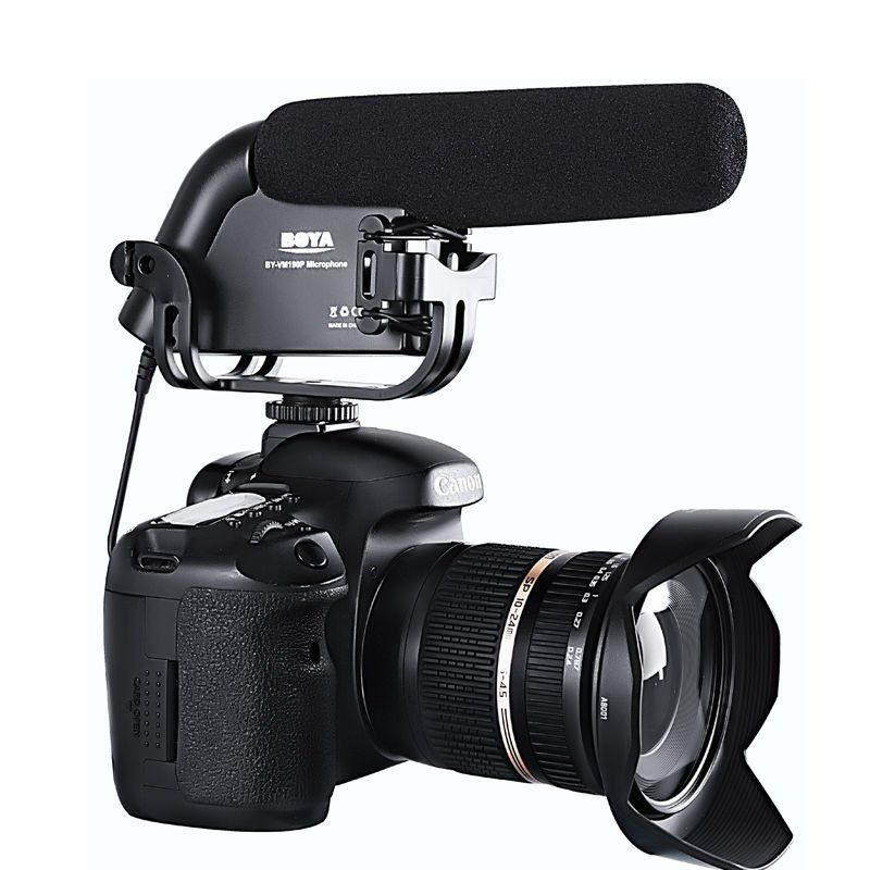 BOYA BY-VM190P Stereo Video Microphone for Canon Nikon Camera Camcorder