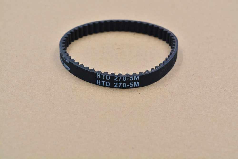 3d drukarki taśmy zamknięta pętla gumy HTD 5 M pasek rozrządu 54 zęby 270mm długość 15mm szerokość HTD 270-5M-15 1 sztuk