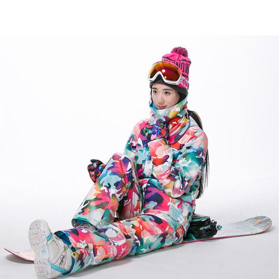 GSOU neige marque Camouflage hiver veste de Ski neige femme veste de Snowboard chaleur - 5