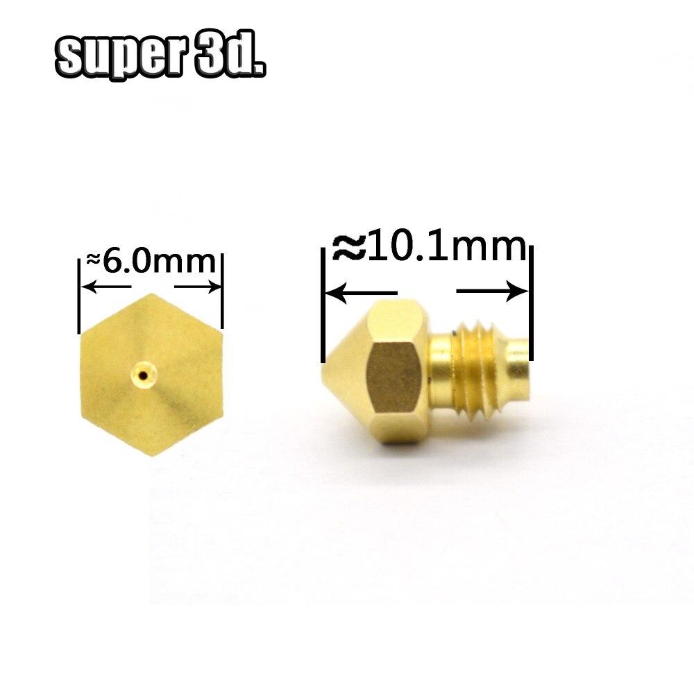 3D Printer Cyclops Nozzle M5 Threaded Screw 0.4mm 1.75mm