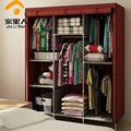 Simple fashion wardrobe cloth wardrobe combination folding steel shutter curtain roll -in wardrobe closet large wardrobes