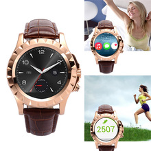 Original leder t2 bluetooth smart watch 1.22 inch schrittzähler fitness schlaf tracker smartwatch uhr für iphone samsung android
