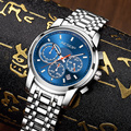 AESOP мужские деловые часы люксовый Топ бренд водонепроницаемый Нержавеющая Секундомер-Хронограф Авто Дата светящаяся рука Montre Homme