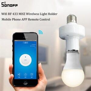 Image 2 - Sonoff Slampher E27 حامل مصباح عالمي واي فاي Slampher RF 433mhz اللاسلكية التحكم عن بعد لمبة حامل للمنزل الذكي على الهاتف المحمول