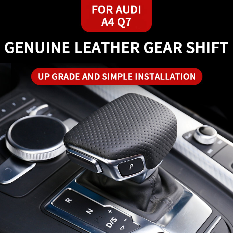 For Audi A4 A5 2017 Up Year Leather Gear Lever Shift Cutch Collars Cover Case Holder For Audi Q7 2016 Year Up