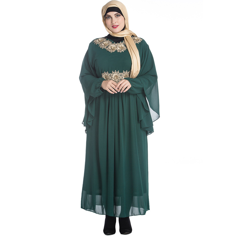 Abayas For Women 2019 Kaftan Abaya Saudi Arabia Chiffon Hijab Muslim Dress Jilbab Robe Dubai Caftan Turkish Islamic Clothing