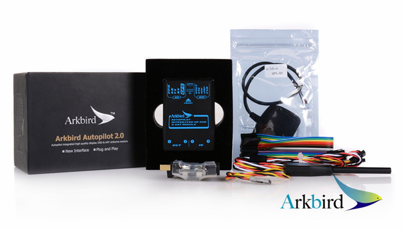 Arkbird Autopilot 2.0 Flight Controller Including Airspeed Meter Current Sensor UBX-M8 GPS Module for RC Airplane Fixed-wing