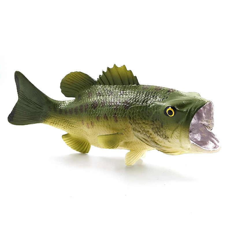 Simulação de Peixe robalo Polvo Caranguejo Eremita Animais De Plástico Modelo figura PVC para casa acessórios de decoração decoração Presente Para As Crianças brinquedo