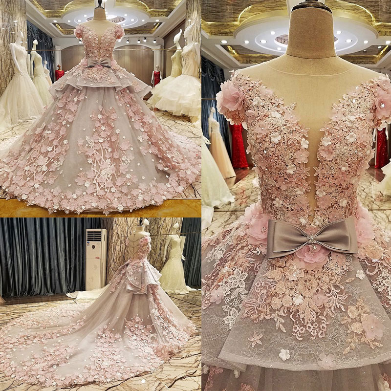 AIJINGYU Plus Size Wedding Dresses Ready Made Gowns Simple With Sleeves Sell Elegant Dressings Ball Gown Wedding Dress 3Xl