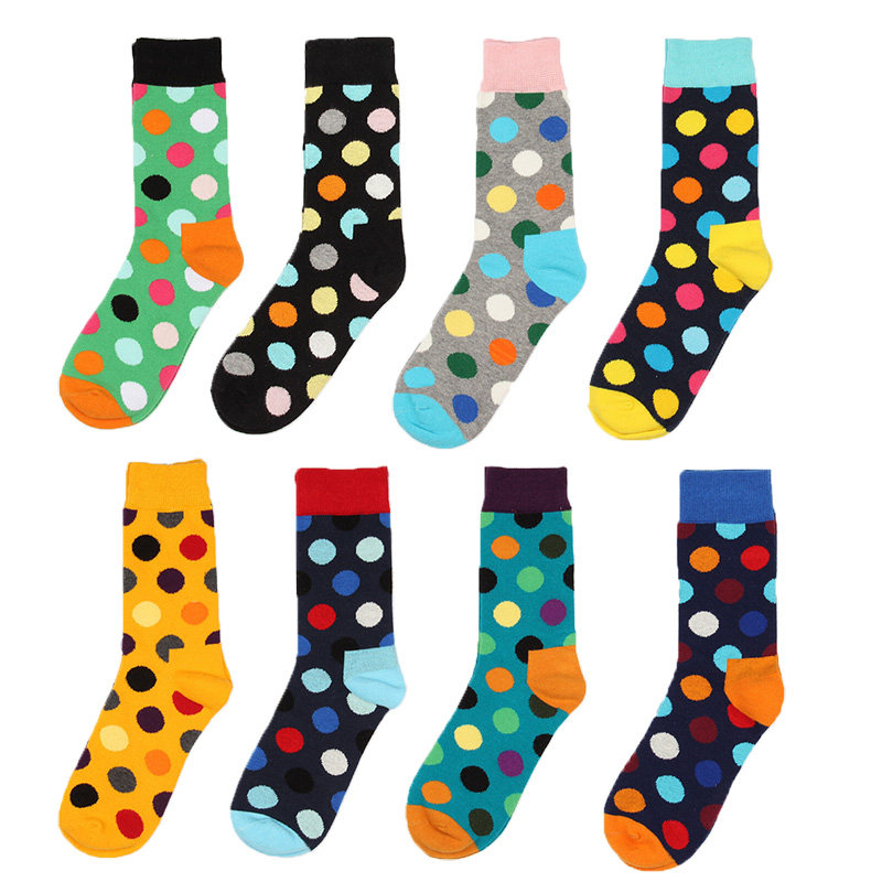 Colorful Point Fashion Men Socks Women Stripe Korea Socks -4227