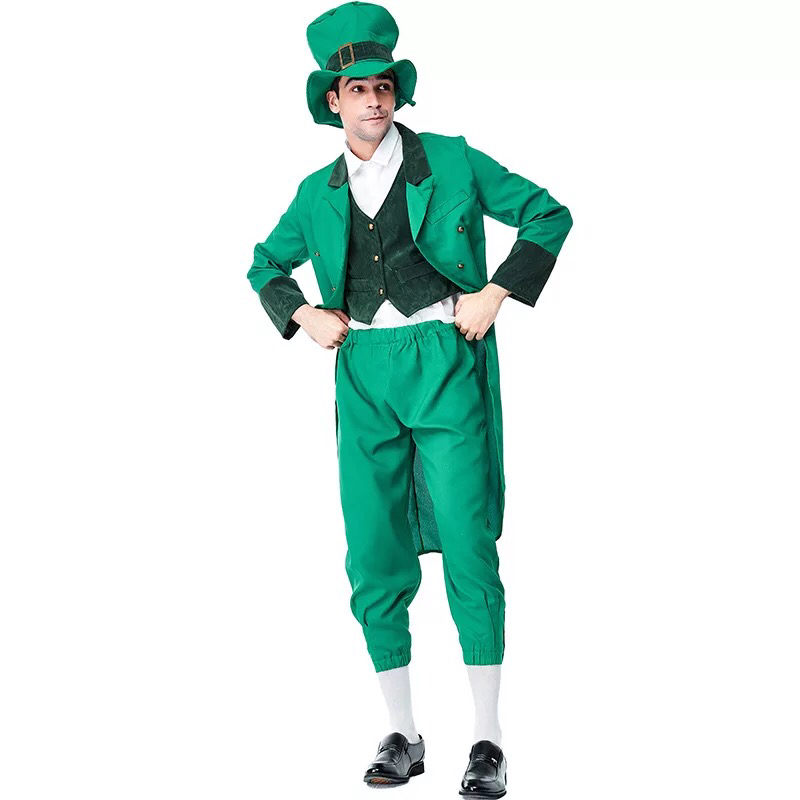 6f0bb0c584 US $25.11 10% OFF|Aliexpress.com : Buy Adult Irish Family Group Leprechaun  Costume Child St Patrick's Day Elf Outfit Fancy Clothes Hat Top Pants Suit  ...