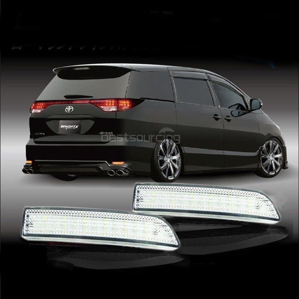 Clear Lens LED For Toyota Alphard RAV4 Previa Rear Bumper Reflector Brake Tail Light 09 10 11