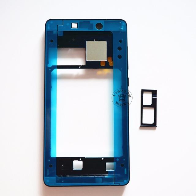 Original Tela LCD Apoio Quadro Oriente Painel Frontal Habitação + Lado botões cabo flex + sim card tray para xiaomi mi note